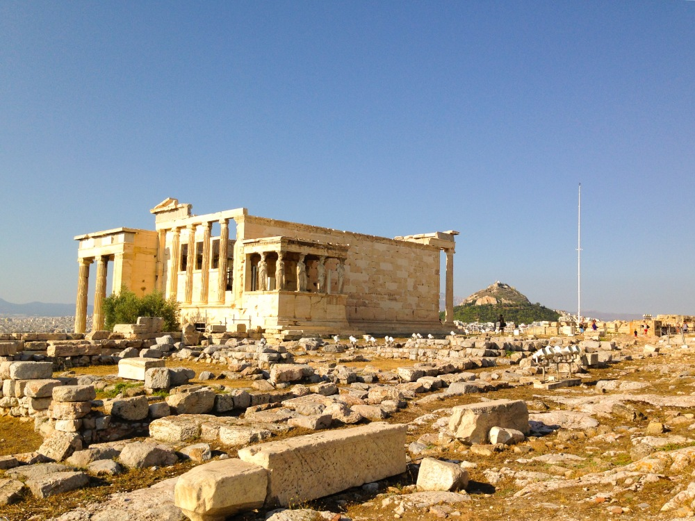 Acropolis in the summer heat (41 degrees)