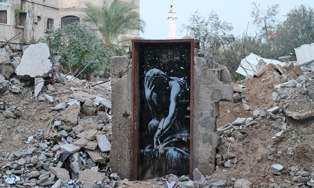 A Greek Goddess Niobé ~ By Banksy in Gaza