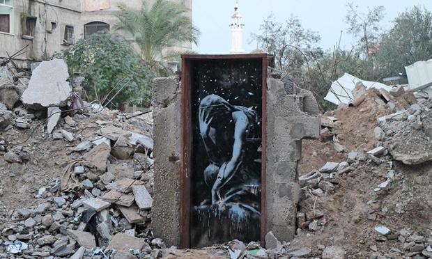 A Greek Goddess Niobé ~ By Banksy in Gaza