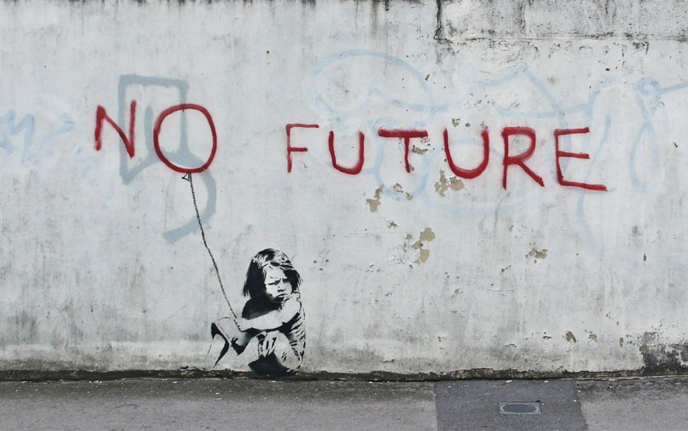 NO FUTURE ~ By Banksy