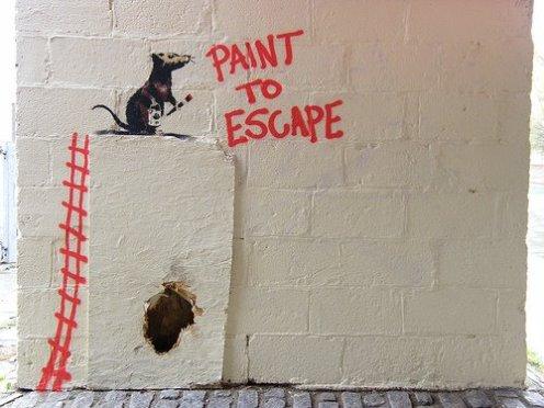 Paint To Escape ~ Banksy