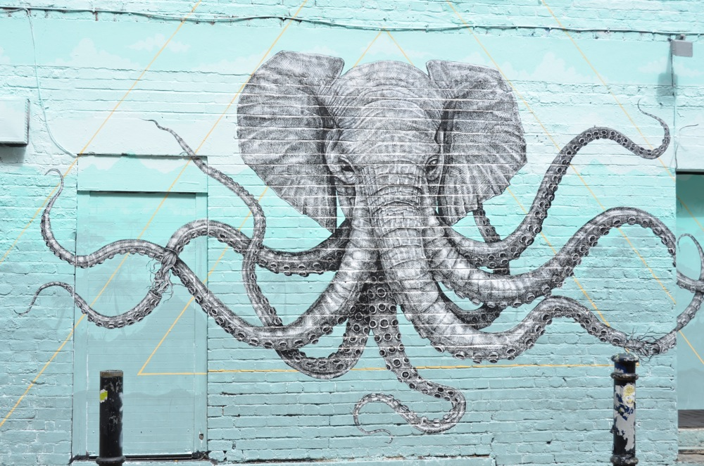 An elephant & octopus in one