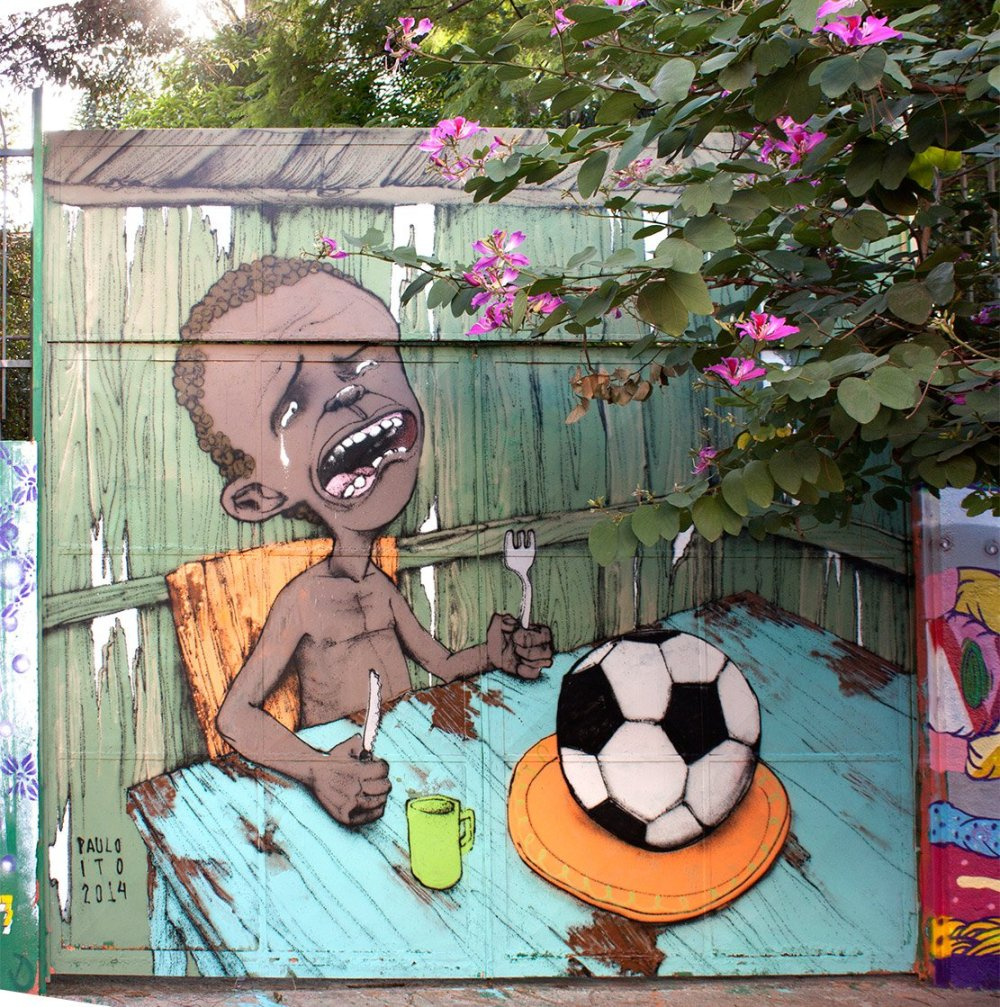 ~ By Paulo Ito ~ In Pompeia, São Paulo, Brazil. Comment on 2014 FIFA World Cup Brazil
