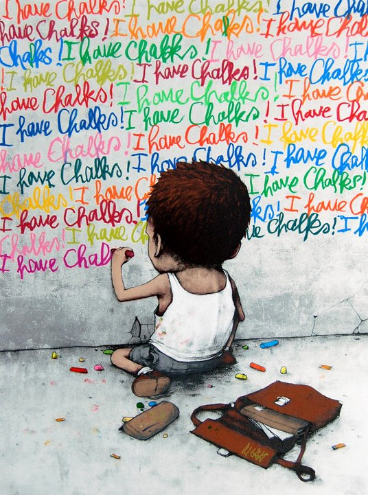 I Have Chalks ~ By Dran