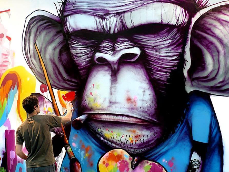 Monkey - In Madrid, Spain ~ By Dran