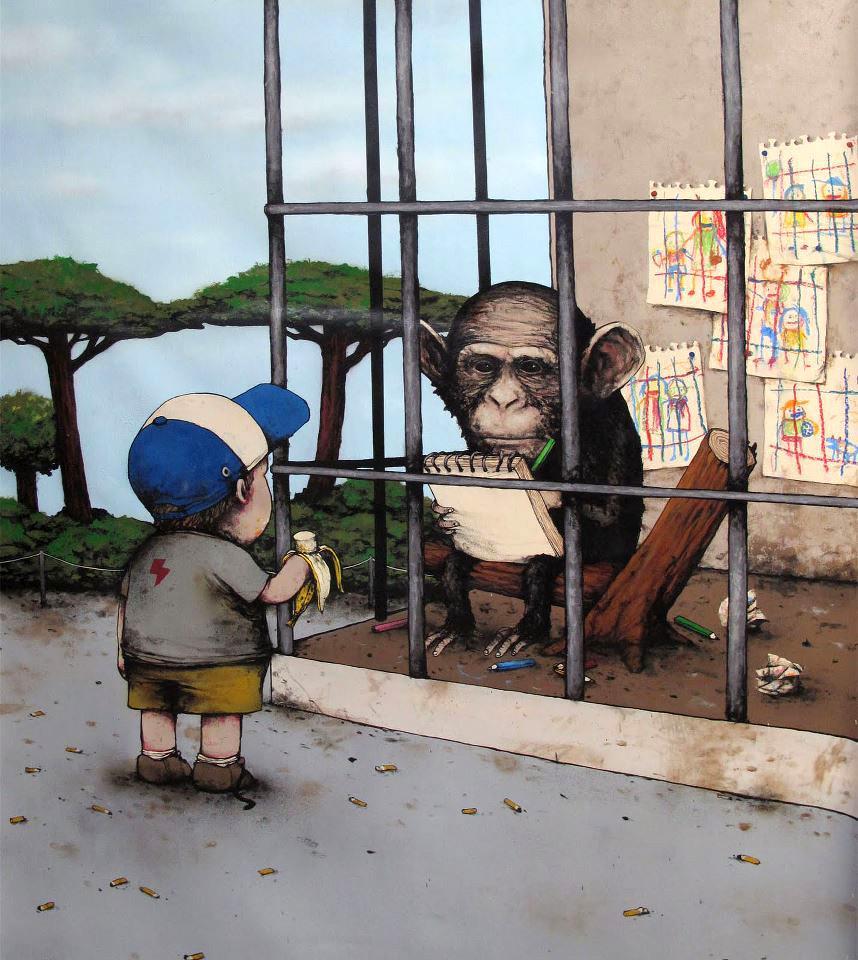 Monkey vs Kid ~ By Dran