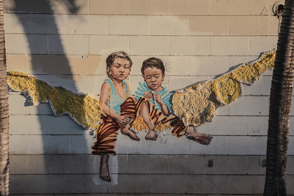 ~ By Ernest Zacharevic and Olek ~