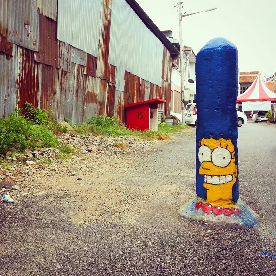 ~ By Ernest Zacharevic ~ Marge in Penang