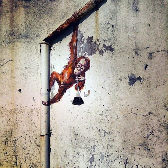 By Ernest Zacharevic ~ Orang Utan