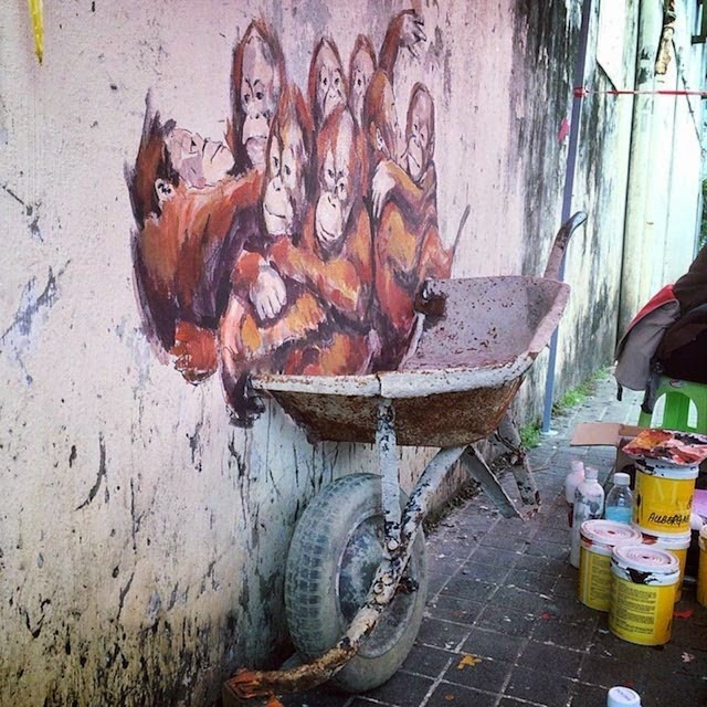By Ernest Zacharevic ~ Orang Utan - Mural