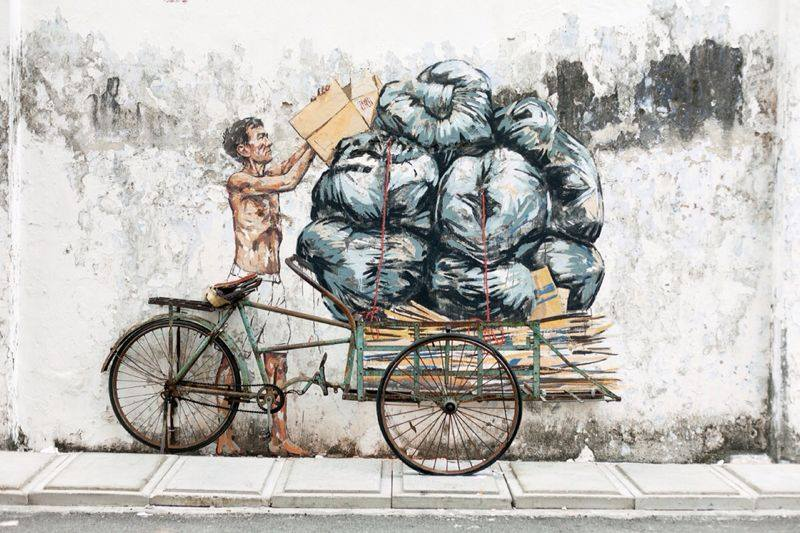 ~ By Ernest Zacharevic ~ Rubbish