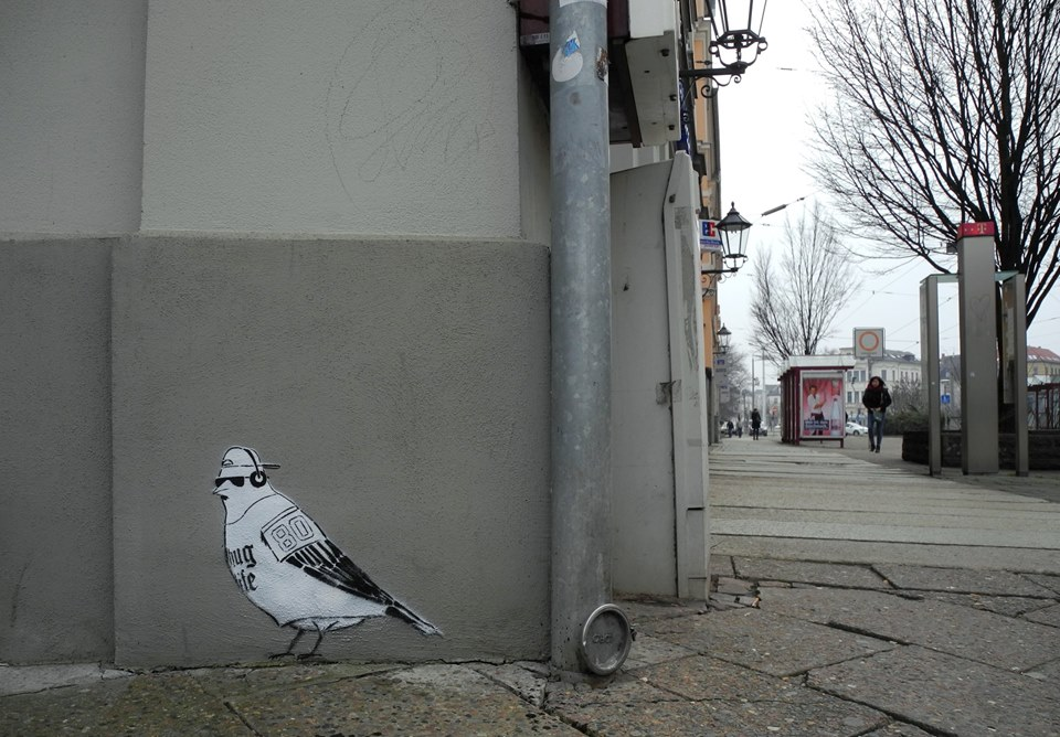 Loup Street Art - Ghetto Bird
