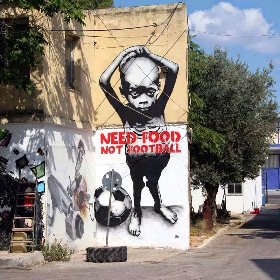 Need Food Not Football ~ Unknown Artist