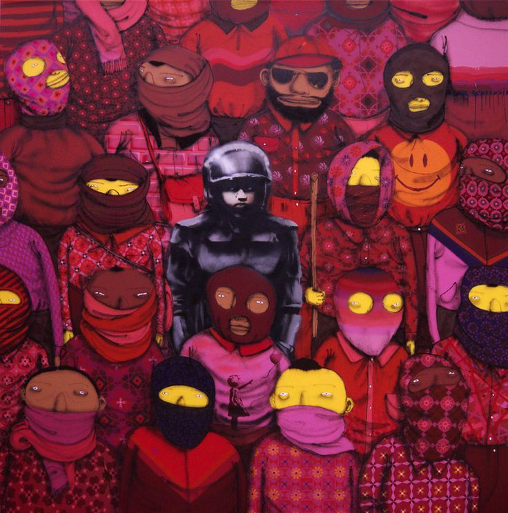 Os Gemeos and Banksy