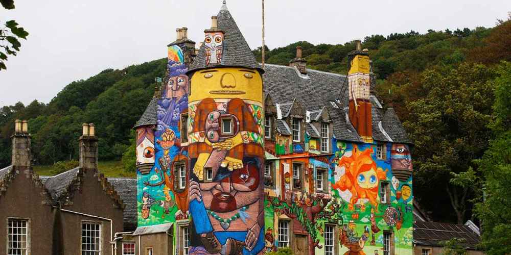 ~ By Os Gemeos ~ Kelburn castle Scotland