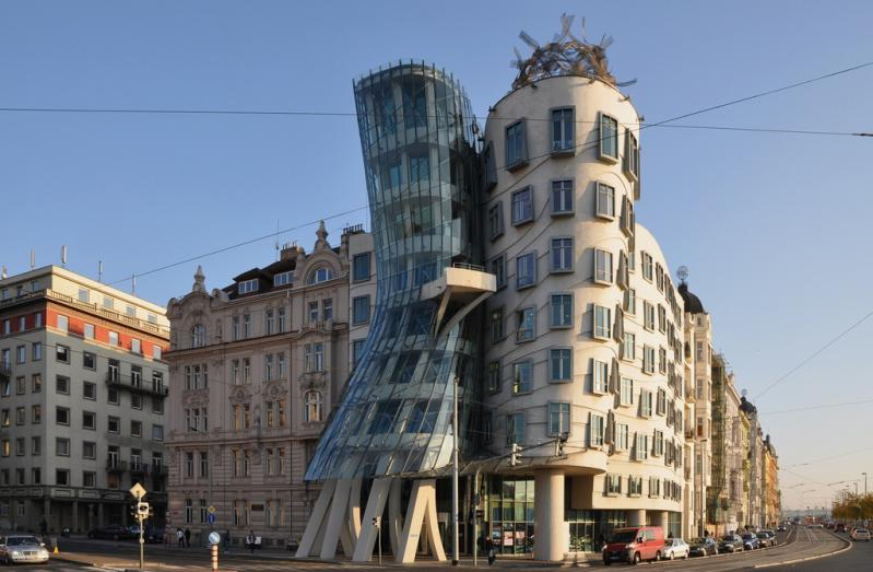 "Tančící dům - ""The Dancing House"" or ""Ginger and Fred"" ~ Designed by Vlado Milunić & Frank O. Gehry"