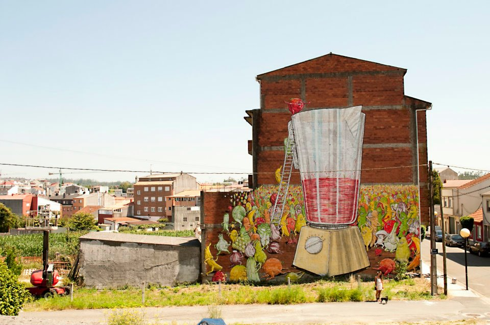 Mural for the Desordescreativas Festival in Ordes ~ By BLU
