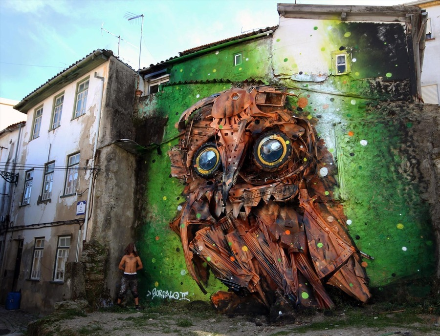 ~ By Bordalo II ~ Owl Eyes