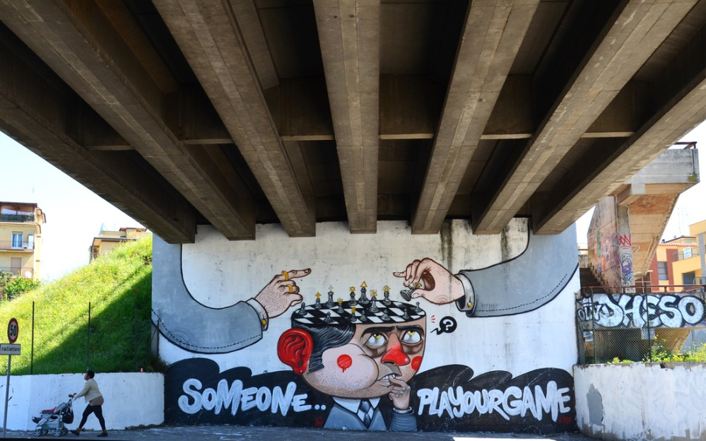 ~ By Mr. THOMS ~ Someone Play Your Game - Rome, Italy