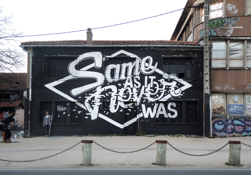 ~ By Rylsee ~ Same as it never was - Painted at the Springtime Delights Festival in La Rochelle, France (from rylsee.ch)