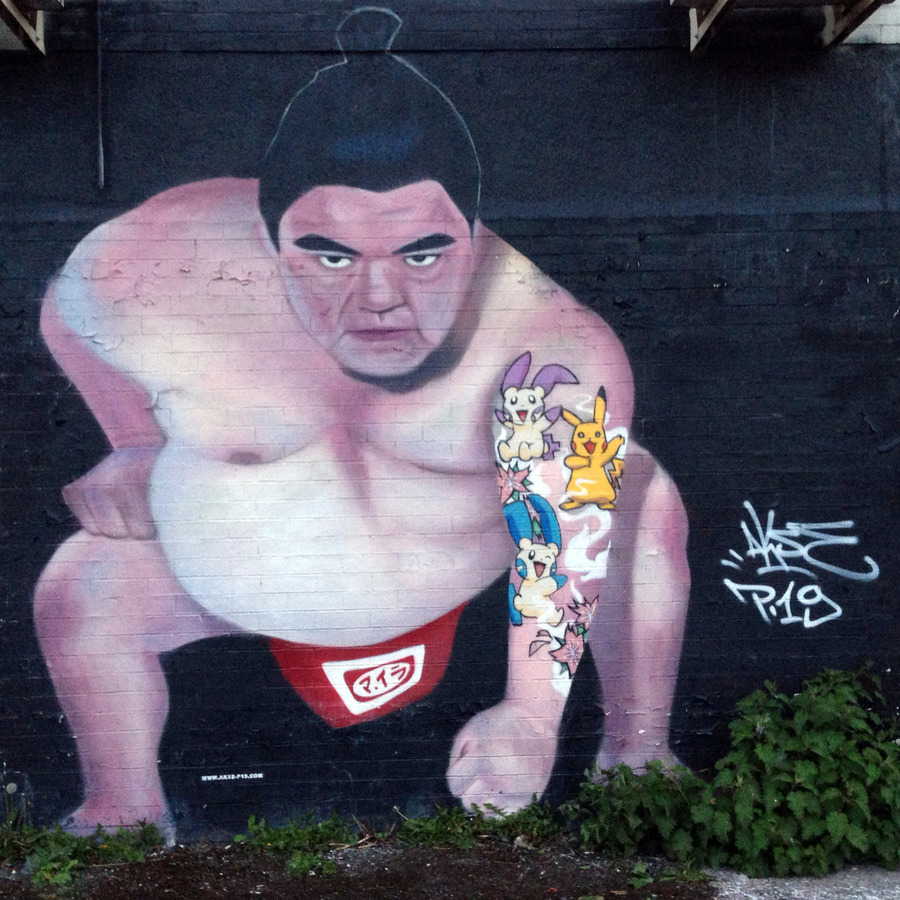 ~ By Akse ~ Sumo - Manchester, UK - from globalstreetart.com