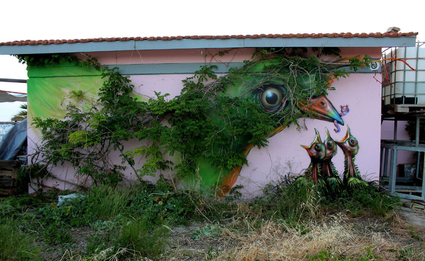 Mother Nature ~ By WD ~ Athens, Greece - from wdstreetart.com