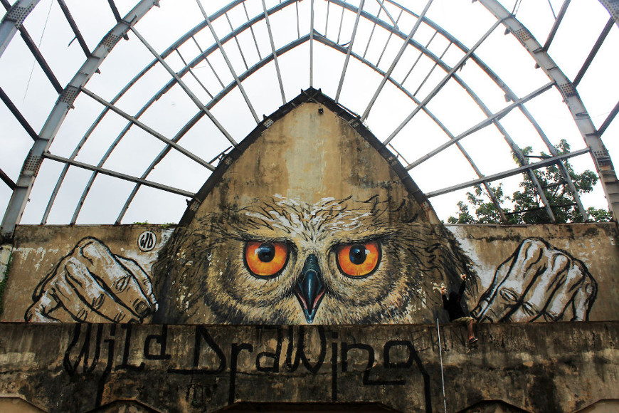 Owlself ~ By WD ~ Bali, Indonesia - from wdstreetart.com