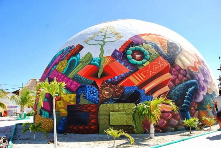 ~ By Curiot and Jason Botkin ~ INTERNATIONAL PUBLIC ART FESTIVAL 2OI4 - Holbox Island, Mexico - from widewalls.ch