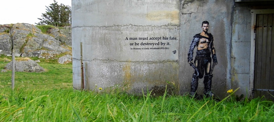 ~ By JPS ~ Tribute to Andy Whitfield - globalstreetart.com