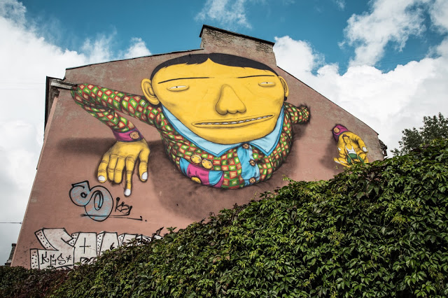 ~ By Os Gemeos ~ Vilnius, Lithuania - Photo: Tautvydas Stukas