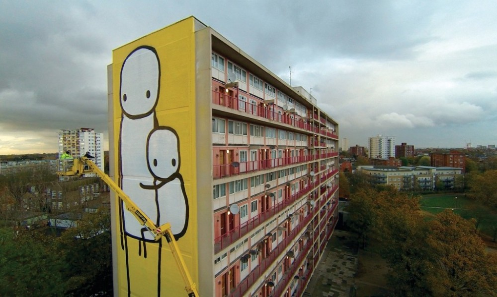 ~ By Stik ~ Shoreditch, east London - Photo: Stik.org