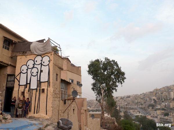 ~ By Stik ~ Jabal Al Qalaa, Jordan - Photo: Stik.org
