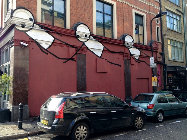 ~ By Stik ~ Hoxton Square, Hackney, London - Photo: Dan Beecroft