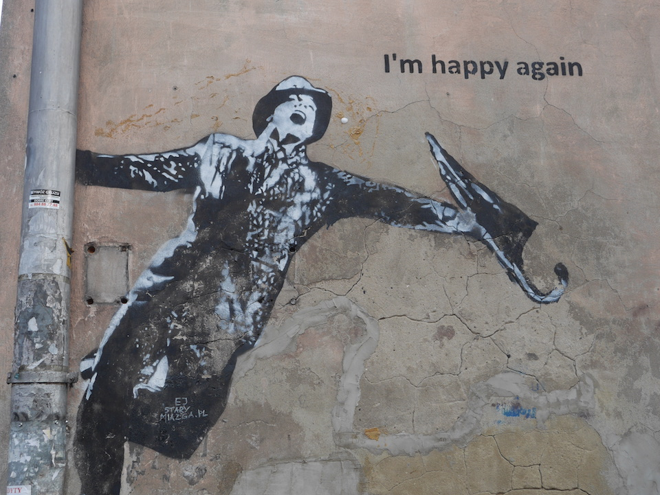 ~ I am happy again ~ Unknown artist - Krakow, Poland - Photo: streetartutopia