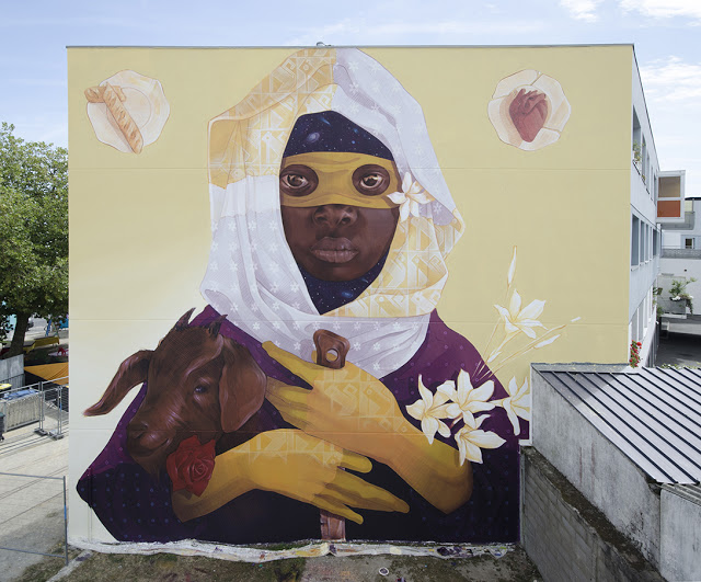 Exodus 2 ~ By INTI ~ Saint Nazaire, France - Photo: streetartnews.net
