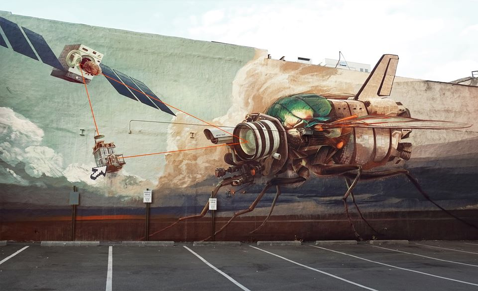 """Doom Loop"" ~ By ONUR and West21 ~ At Richmond Mural Project 2014, USA - Photo: Onur's Facebook"
