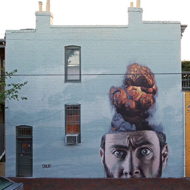 """Overthink"" ~ By Onur ~ for ‪Richmond Mural Project‬ - Photo: Onur's Facebook"