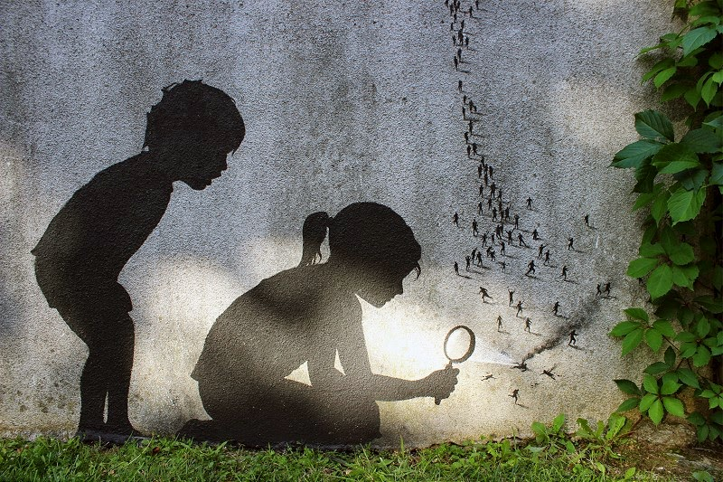 ~ By Pejac ~ Paris, France - Photo: streetartutopia