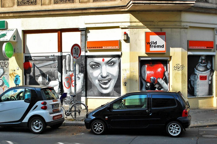 Angelina Jolie ~ By MTO ~ Berlin, Germany - Photo: streetartbln.com