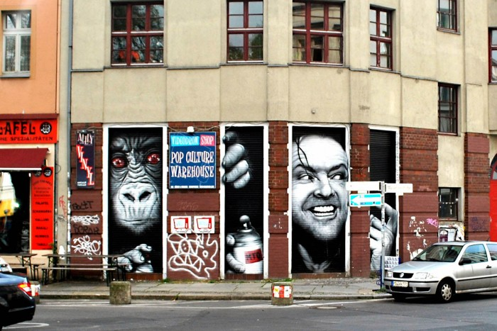 "Jack Nicholson from ""Shining"" ~ By MTO ~ Berlin, Germany - Photo: streetartbln.com"