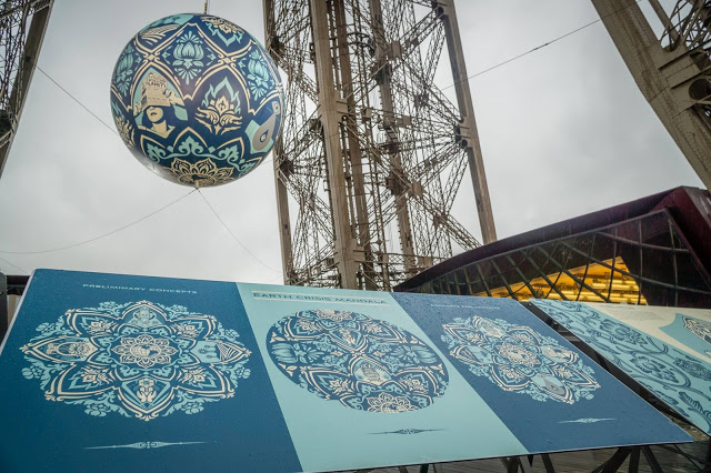 Shepard Fairey Paris installation