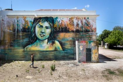 """~ By Alice Pasquini ~ """"Desde el Rio"""" - Montevideo, Uruguay - Photo: alicepasquini.com"""