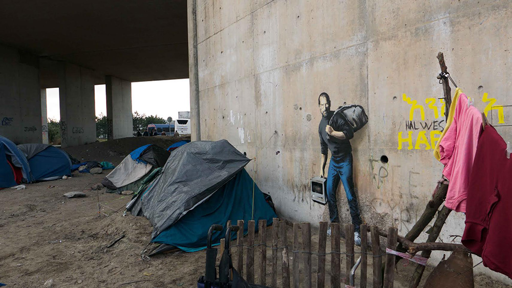 Banksy Jobs Refugee camp
