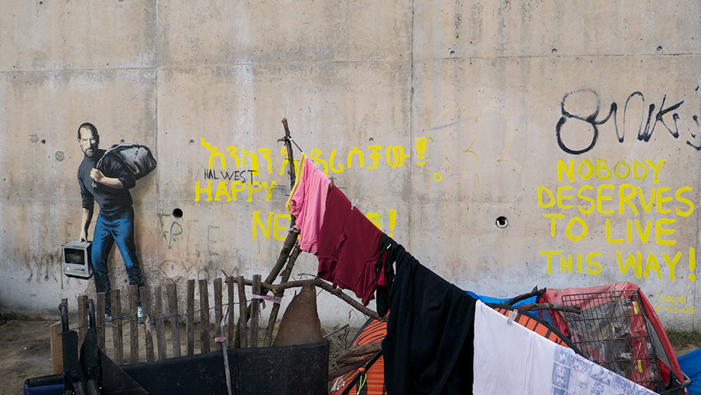 Banksy Steve Jobs Refugee