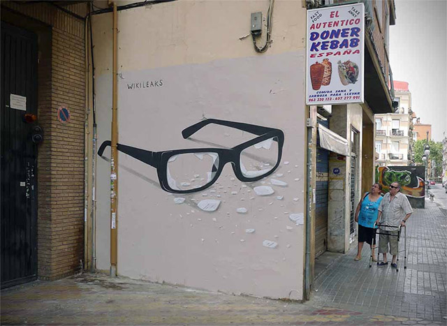 Escif Wikileaks Valencia Spain