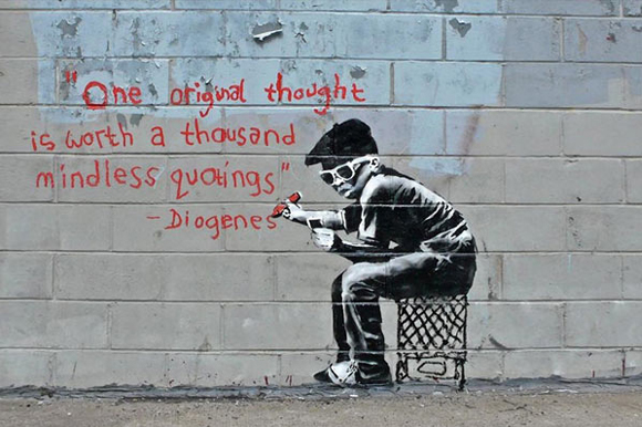 ~ By Banksy ~ Info and picture from StencilRevolution.com