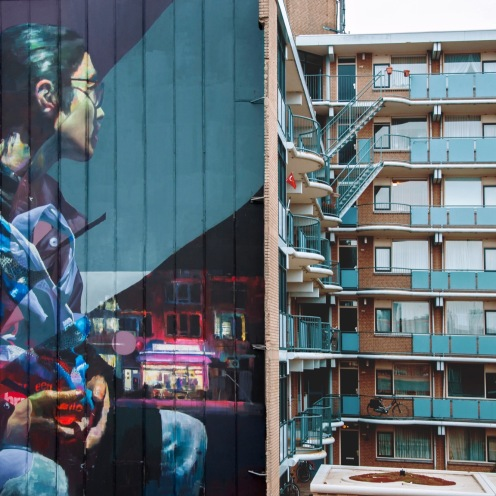 ~ By Telmo Miel and Sebas Velasco ~ Sober Walls Rotterdam 2017 - Photo via streetartnews.net